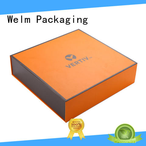 Welm boxes rigid gift boxes wholesale closure for gift