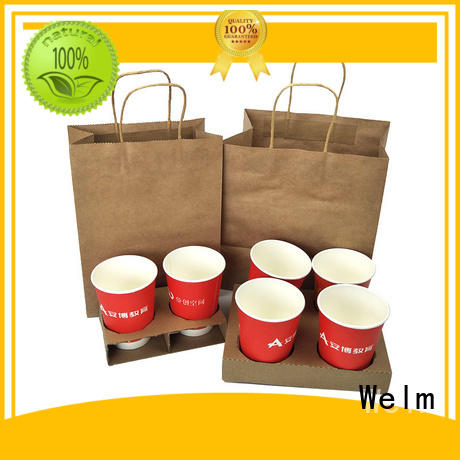 Welm waterproof where to buy large paper bags with gold logo print for shopping