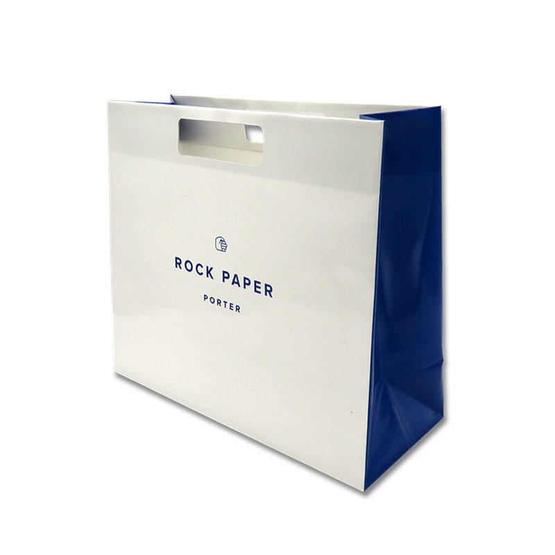 Premium Eco-friendly Stone Paper Bag Waterproof with Die Cut Handle