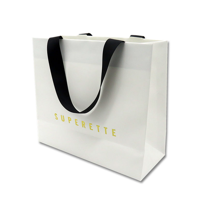 reusable medium size paper bags paper for gift shopping-1