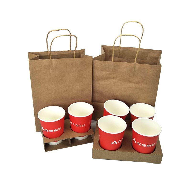 Custom Logo Printing Kraft Paper Bag for Gift Shopping