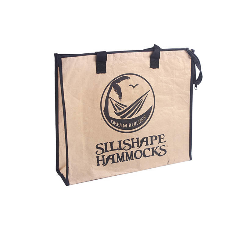Black pp woven handle shopping kraft paper bag