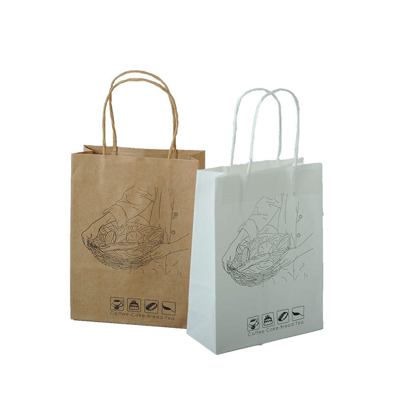 Kraft Paper Packaging Pink Paper Bag
