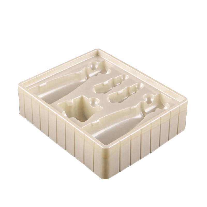 Custom plastic cosmetic blister packing plastic tray