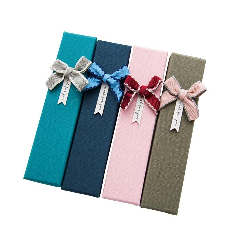 Fashion rectangular bow-tied Pen Jewelry  gift box
