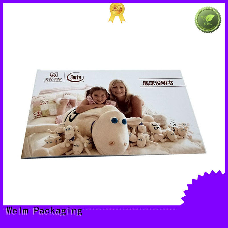 Welm manual paper brochure book for