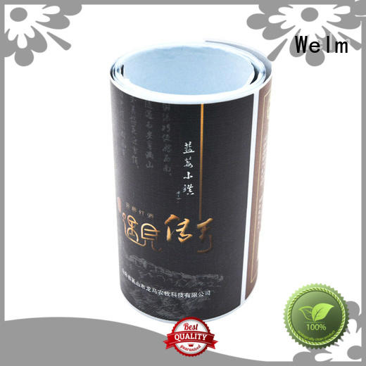 Welm thermal custom sticker labels glossy laminated label for storage