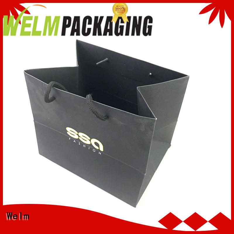 printed paper bags with gold logo print for sale Welm