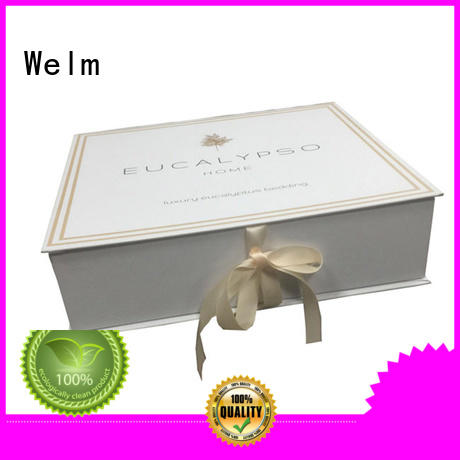 Welm foldable magnetic box closure for gift