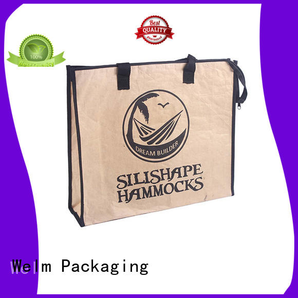 dried paper bags with handles with die cut handle for sale