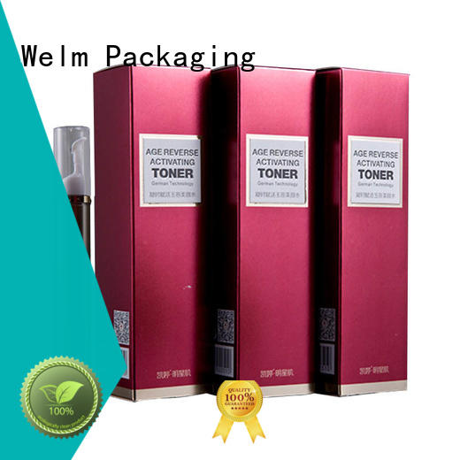 high end printed cosmetic boxes manufacturer for sale Welm
