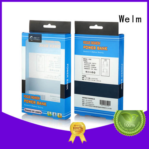 waterproof electronics packaging designwith pvc window for power bank