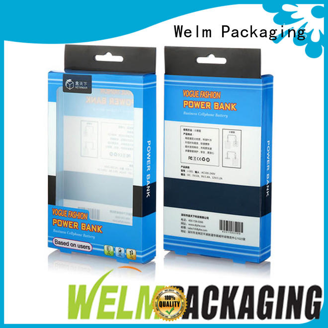 electronics packaging design high end for power bank Welm