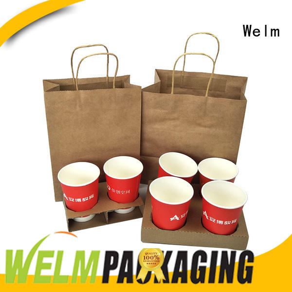 print shopping paper bags wholesale woven Welm company