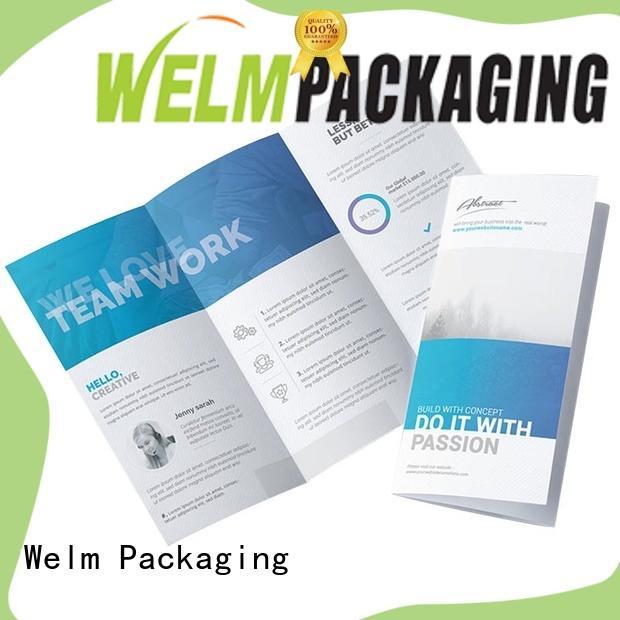 Welm bulk custom brochure printing supplier for business