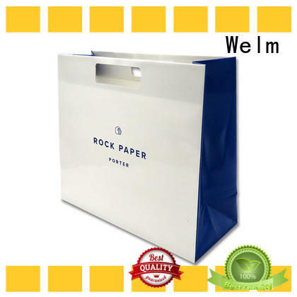 ziplock colored paper bags with handles gold for business for gift shopping
