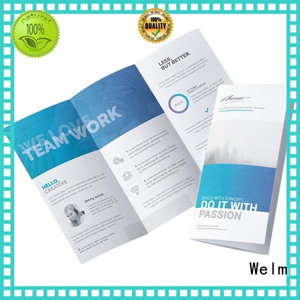 household paper fold pamphlet printing Welm manufacture