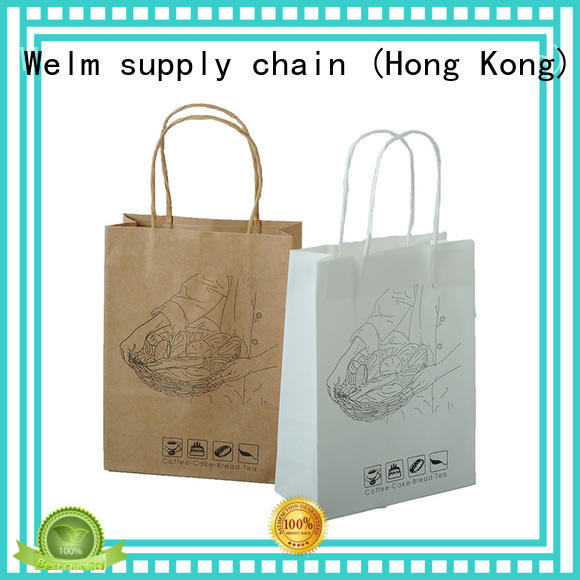Welm dried printed paper lunch bags logo for sale