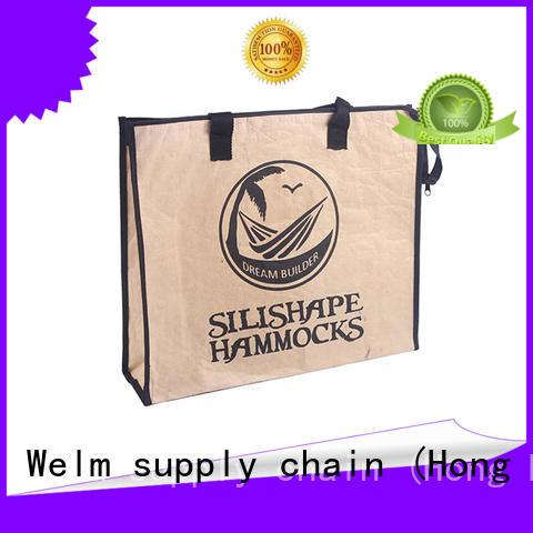 Black pp woven handle shopping kraft paper bag