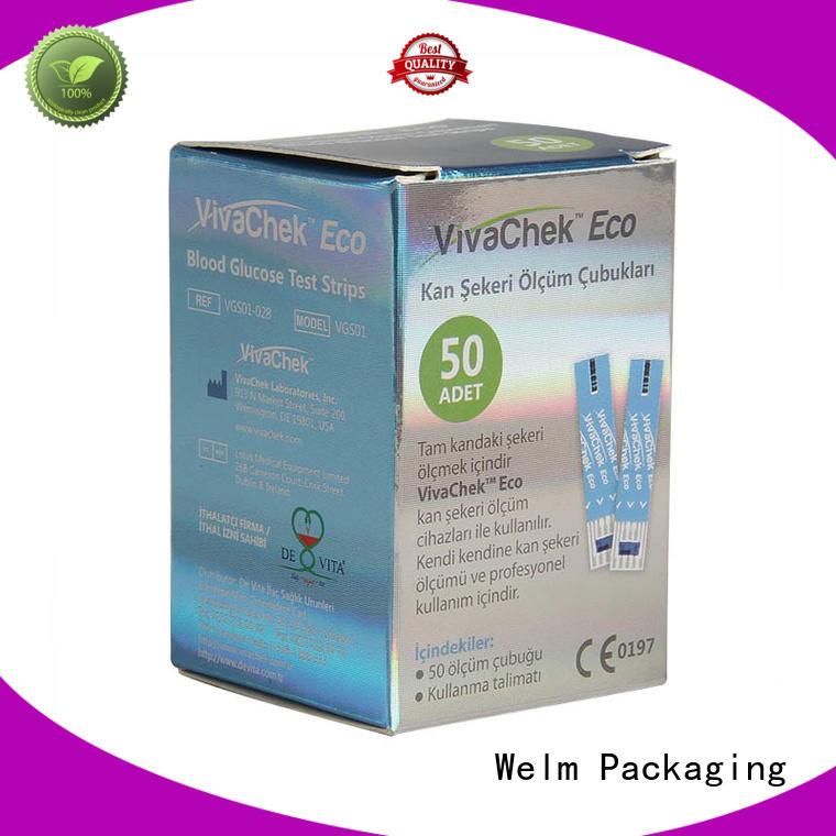 Welm medication packaging manufacturer for blood glucose test strips