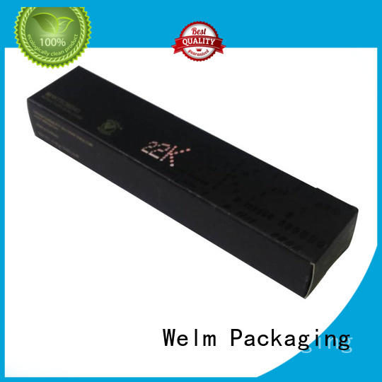 Welm cosmetic paper box suppliers for tempered glass packing