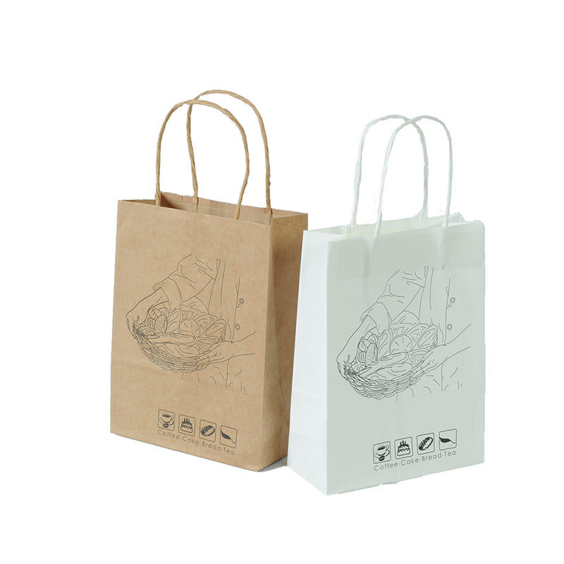 Welm fruit packing printed paper bags with gold logo print for shopping-1