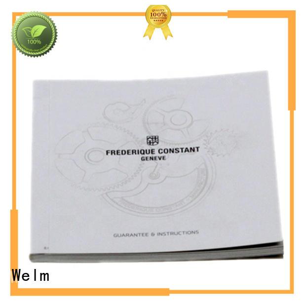 Welm paper business brochure design instruction manual for business