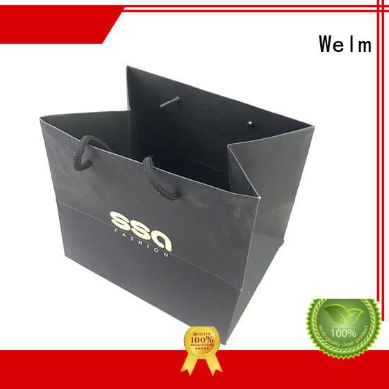 High quality custom paper bag design with gold logo print