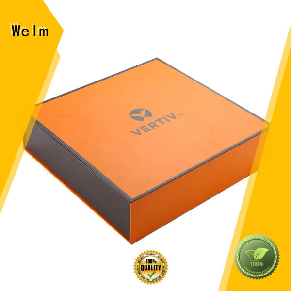 white magnetic box designed for gift Welm