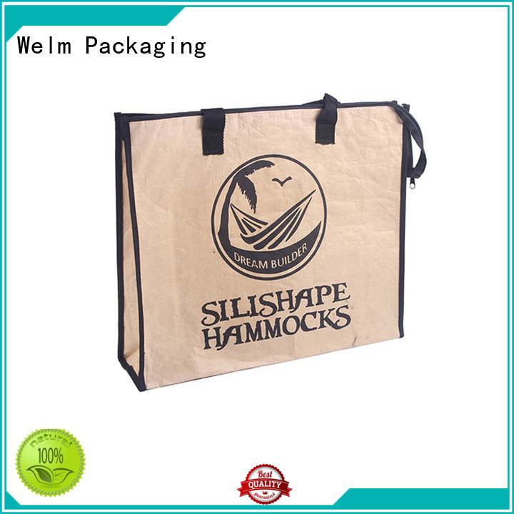 Welm ziplock paper gift bags bulk waterproof shopping