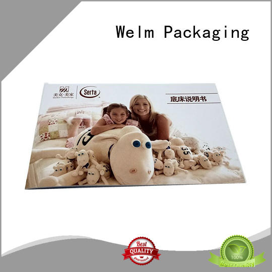Welm household glossy tri fold brochure paper supplier for business