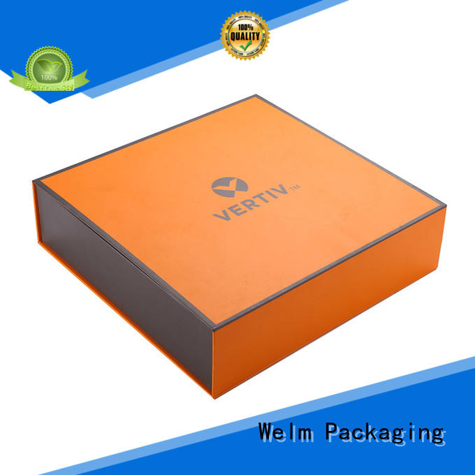 Welm paper magnetic closure box windows for sale