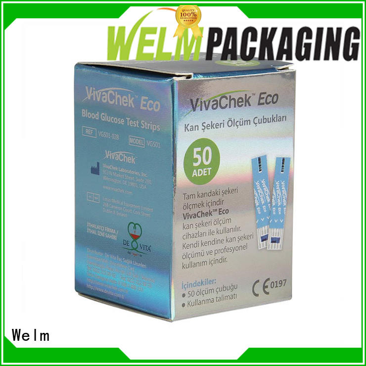 Welm color product packaging boxes packaging power