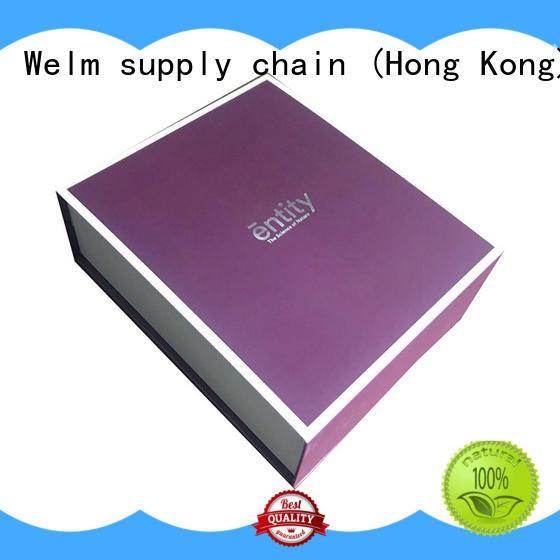 Welm bowtied watch presentation box with red vinyl sticker for children toys