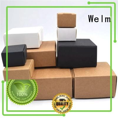 Welm standard custom printed boxes with pvc window for sale