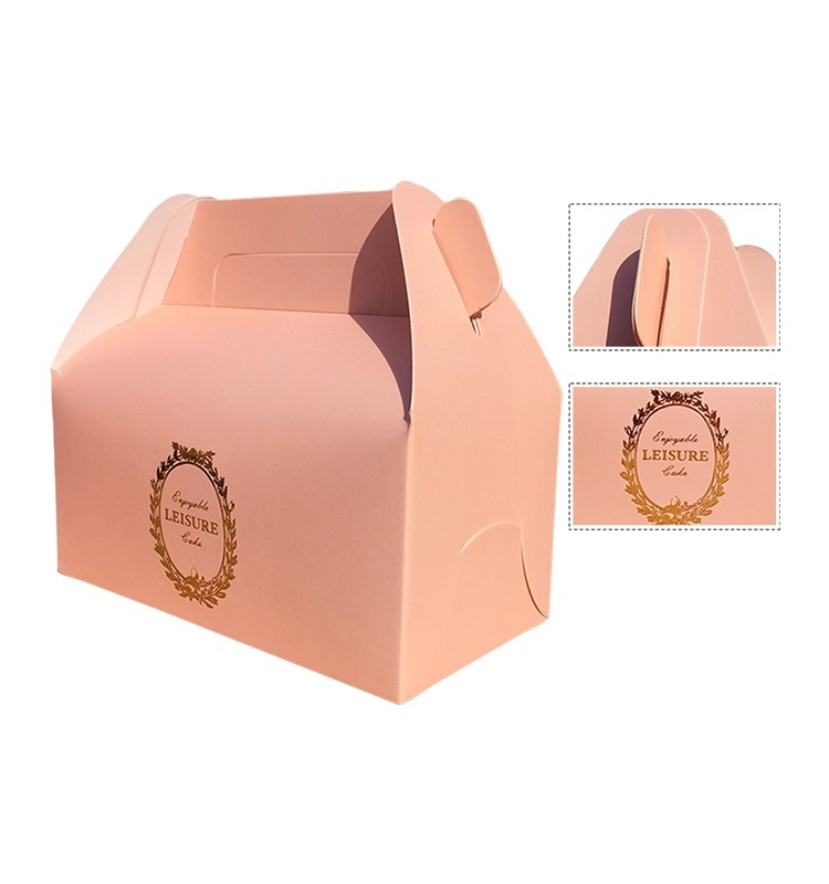 colorful custom dessert donut food paper packaging box-4