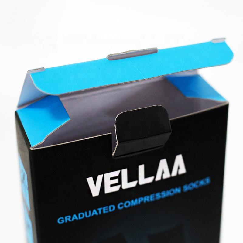 Medical sport graduated compression socks corrugated paper packaging box