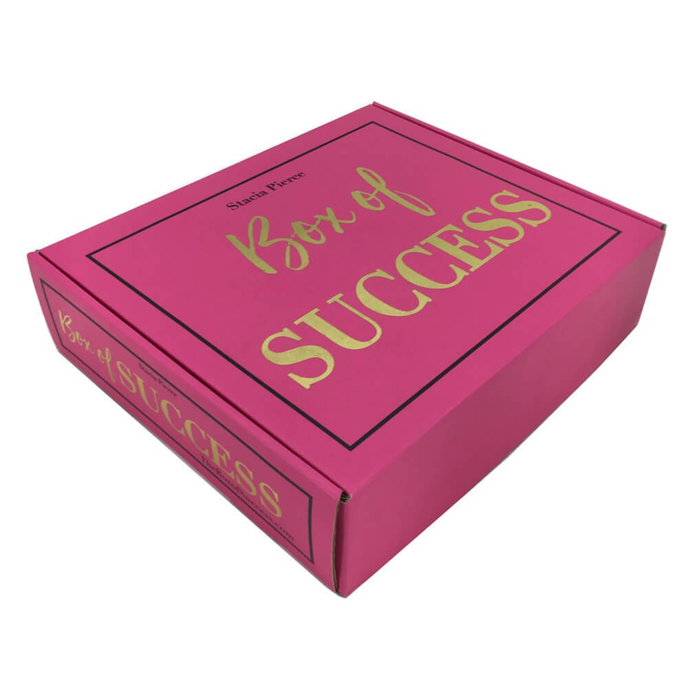 hot stamping paper box custom mailer box shipping boxes custom logo double side printing