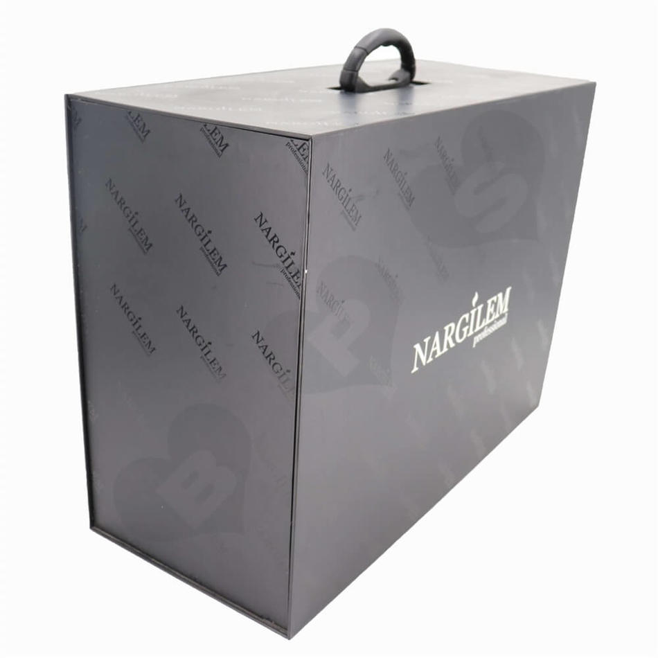cardboard suitcase gift box hookah shisha box high end packaging paper box