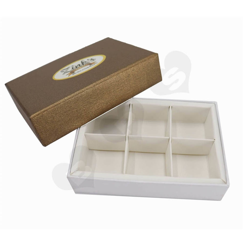 Personalized homemade chocolates gift boxes with lids and paperboard divider insert luxury chocolate box coated speciality paper