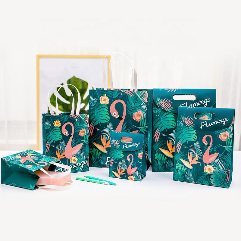Custom Kraft Paper Shopping Bags Recycled  Paper Bags With Handles  Packaging Bags