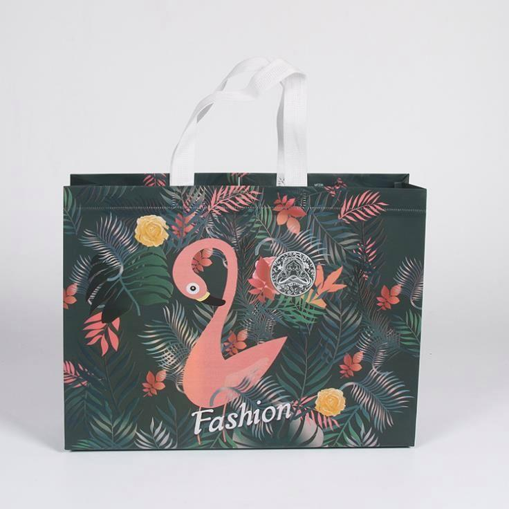 latest brown paper bags without handles reusable with die cut handle for shopping
