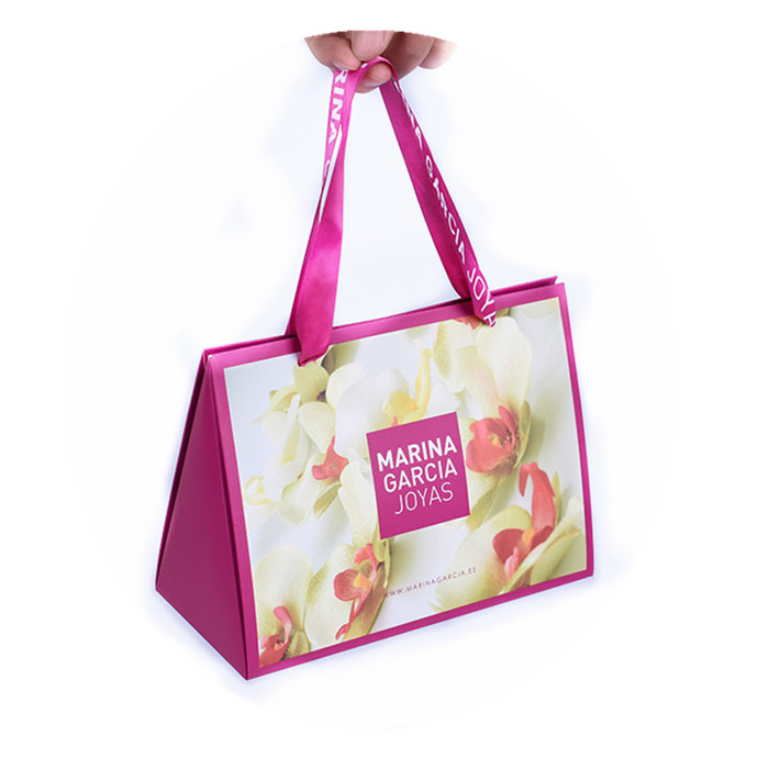 Welm gift brown grocery bags wholesale with gold logo print for sale-1