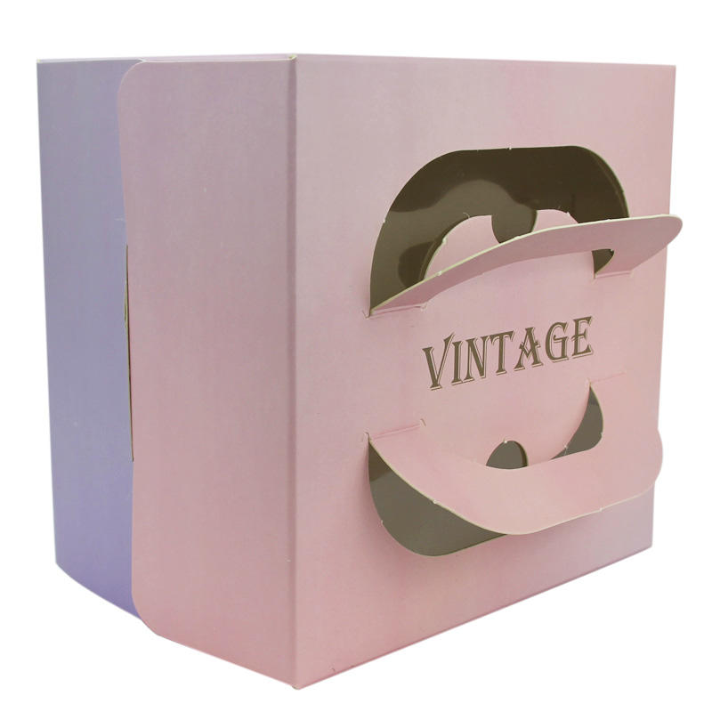 Custom Design Print  Birthday Cake Box with Plastic Window