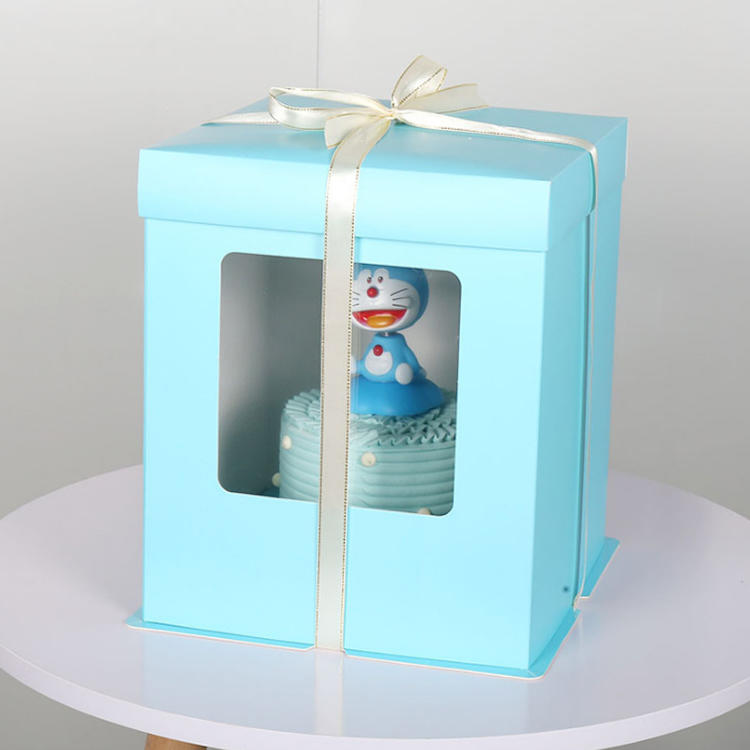 Tall  Cake Box With Clear Window