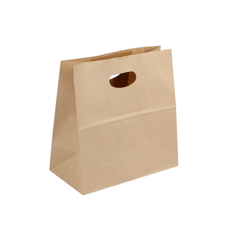 Custom Printed Fashion Recyclable Food Brown Kraft Paper Bag