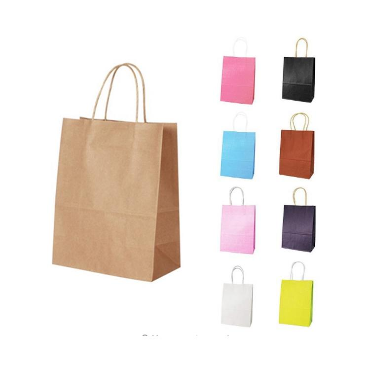 Custom Kraft Paper Logo Print Bag With Handle