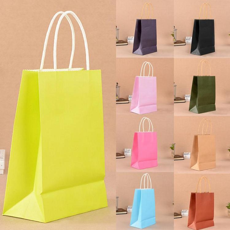 Custom Kraft Paper Logo Print Bag With Handle