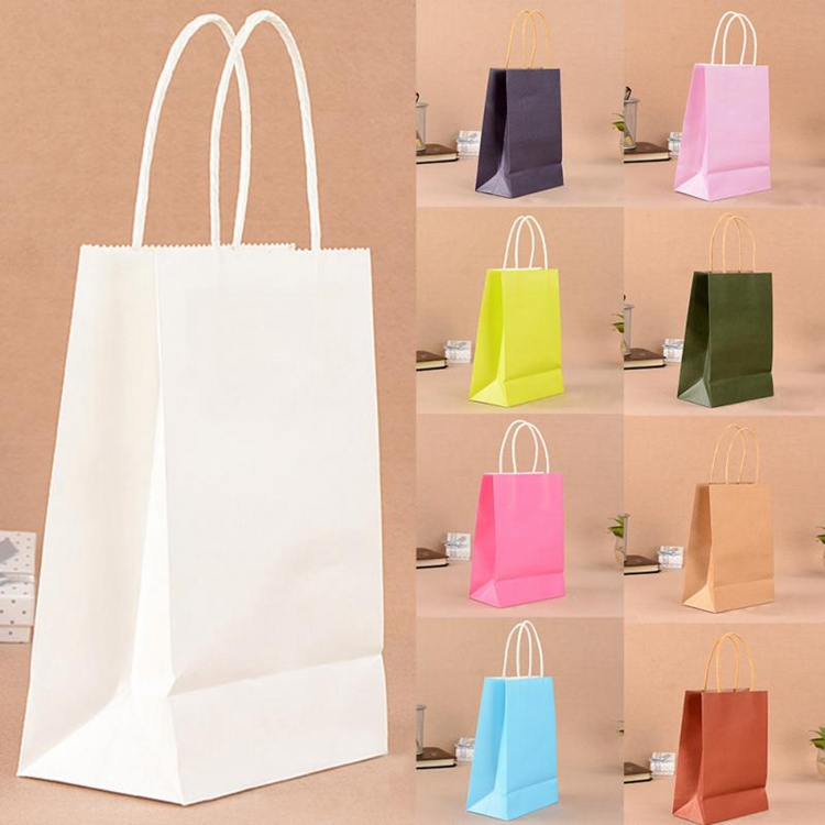 Welm handle plain brown bags with handles suppliers for gift shopping-1