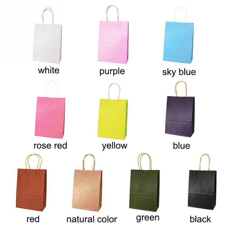 Welm handle plain brown bags with handles suppliers for gift shopping-3